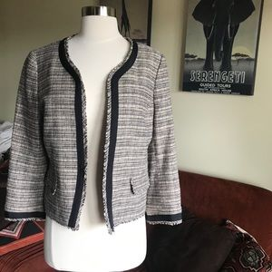 Ann Taylor Loft Tweed Cropped Blazer